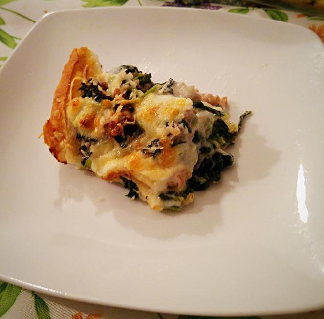Un primo glutenfree: le lasagne di pane carasau senza glutine con salsiccia e cime di rapa