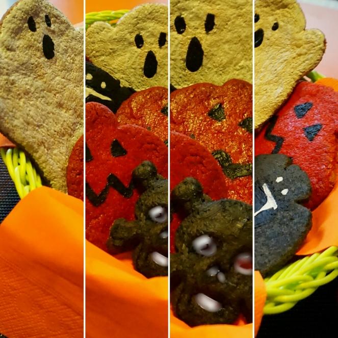 Per Halloween abbiamo preparato deliziosi biscotti gluten free dall'aspetto mostruoso ma dal sapore davvero squisito.