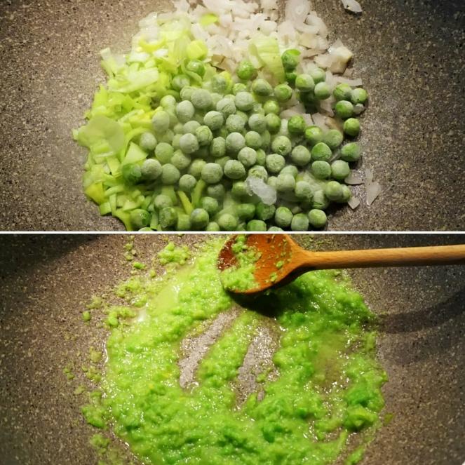 """Preparazione del sugocon cui andiamo a condire la nostra pasta senza glutine """"larve e formiche"""": una simpatica ed originale ricetta per Halloween."""